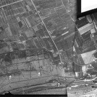 Fig. 7. Mosaic of S.A.R.A. flight, unknown year, 25, 2130 on the right and RAF flight, 1944, 29, 4089 on the left (rendering L. Ebanista)