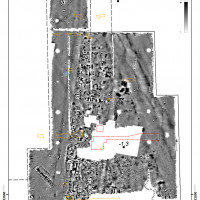 Fig. 6. Detail of the magnetometer survey results of the northern area.