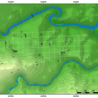 Fig. 22. Map of the Roman paleosoil of Asculum, and the reconstructed urban plan.