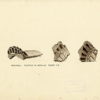 Fig. 16. Architectural terracotta found during the Maiuri excavations in the sanctuary of Apollo (drawing R. Oliva).