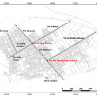 Fig. 1. Pompeii's plan with the urban references mentioned in the text (adapted from Morichi et al. 2018 by Michele Silani).