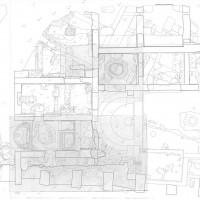 Fig. 3. Digitalization and georeferencing of end-of-excavation yearly maps (hand drawings).