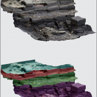 Fig. 7. 3D sequence of excavated stratigraphy.
