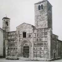 Fig. 18. The church of San Vincenzo and Anastasio and the Oratory of San Rocco before destruction.