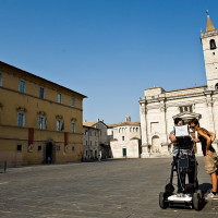 Fig. 6. GPR survey in Aringo square (photo by P.Giorgi)