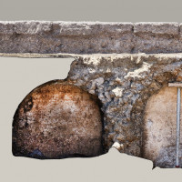 Fig. 8. First corridors of the large cistern in the forecourt of the sanctuary of Apollo (F. Giannella).
