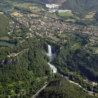Fig. 1. View of the Marmore Falls over Valnerina