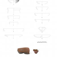 "Fig. 4: Stratigraphic context with heterogeneous materials (""indigenous"" and black-ware pottery)"