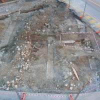 Fig. 19. The Ruins of the Oratory of San Rocco during the archaeological excavation in 2014