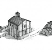 Fig. 4. Ravenna, architectonic complex of S. Croce. Drawing of the current status of the site (from David 2013, 6).
