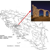 Fig. 1. The Roman province of Dalmatia and the location of the Burnum archaeological site
