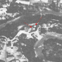 Fig. 10 Aerial photograph of the silos (1958).