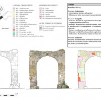 Figure 20. Reading of the conservation state of the architectonic surfaces depicted in the internal perspective of the macro-element of Porta Nola. Surface P X 4 P4 O