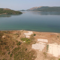 Fig. 5. The maritime villa at Diaporit looking across Lake Butrint (photo: Alket Islami)
