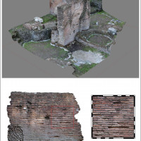 Fig. 6. 3D survey and sampling of ancient structural features.