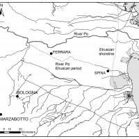 Fig. 1. The location of the Etruscan cities of Spina and Marzabotto.