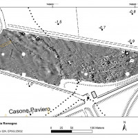Fig. 8. Magnetometer survey results in south-eastern area.