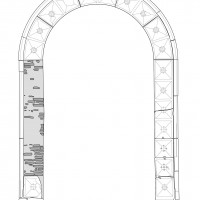 Fig. 7. Palazzo Lettimi. Survey of the portal located overlooking the street.