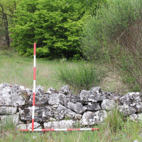 Remains of a fortification wall in Il Monte – Santo Spirito (Grumento Nova)