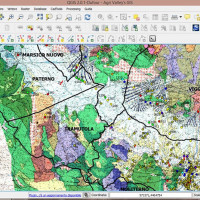GIS database, with the Geomorphologic Map and the Archaeologic Map