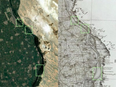 Georeferencing Napoleonic Cartography to reconstruct Ancient Egypt landscapes: methods in comparison and the case of the island of iw-rd in the 16th nomos of Upper Egypt